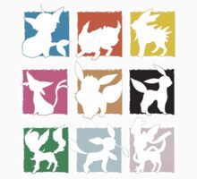 Eeveelutions 3x3 (Fancy) by rK9nation