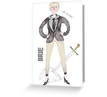 Contemporary Brie as a classy liberal feminist Greeting Card