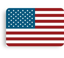 American Flag USA Canvas Print