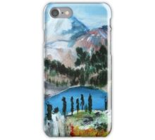 Mount Shuksan acrylics On Canvas Board iPhone Case/Skin
