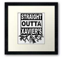 Straight Outta Xavier's •X-Men Compton Parody Framed Print