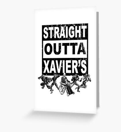 Straight Outta Xavier's •X-Men Compton Parody Greeting Card