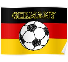 German Flag with Football Poster