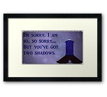 Dr. Who Silence in the Library Framed Print