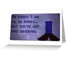 Dr. Who Silence in the Library Greeting Card