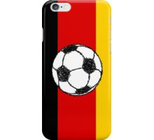 German Flag with Football iPhone Case/Skin