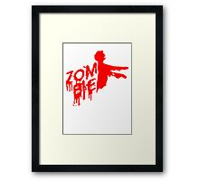 Zombie of undead design Framed Print