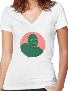Slime Monster Women's Fitted V-Neck T-Shirt