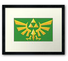 (Geometric) Zelda Triforce Framed Print