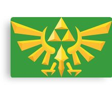 (Geometric) Zelda Triforce Canvas Print