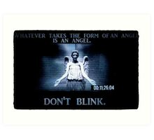 Weeping Angel/ Don't Blink Art Print