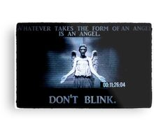 Weeping Angel/ Don't Blink Metal Print
