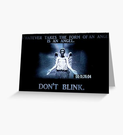 Weeping Angel/ Don't Blink Greeting Card