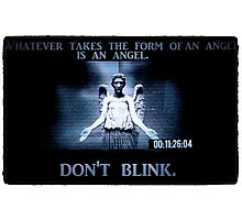 Weeping Angel/ Don't Blink Photographic Print