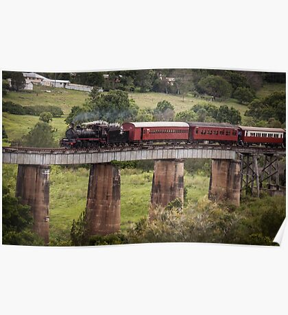 Heritage Steam Train, Mary Valley, Queensland Poster