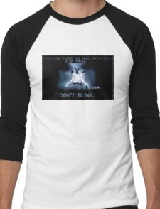 Weeping Angel/ Don't Blink Men's Baseball ¾ T-Shirt