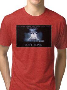 Weeping Angel/ Don't Blink Tri-blend T-Shirt