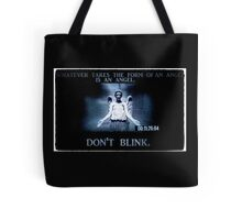 Weeping Angel/ Don't Blink Tote Bag