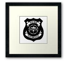 Haven Team Wuornos Police Badge Black Logo Framed Print