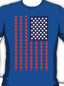 BEER PONG AMERICAN FLAG T-Shirt