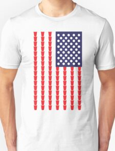 BEER PONG AMERICAN FLAG T-Shirt