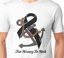 Nautical Themed Melanoma Ribbon Unisex T-Shirt