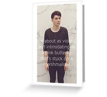 Danisnotonfire pink butterfly phone case Greeting Card