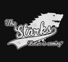 Team Stark Baseball Tee by vestigator