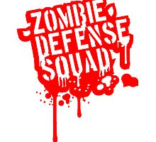 Zombie Defense Squad Graffiti Blood by Style-O-Mat