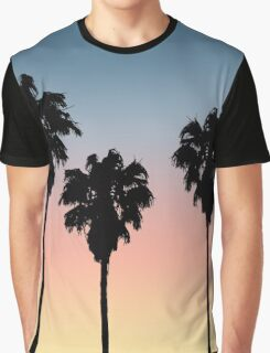 Sunset Palm Trees Graphic T-Shirt