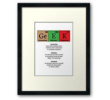 """""""Ge E K"""" Is Made Of… Framed Print"""