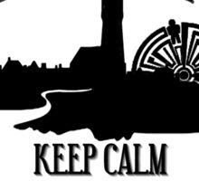 Haven Keep Calm Black Logo Badge Sticker