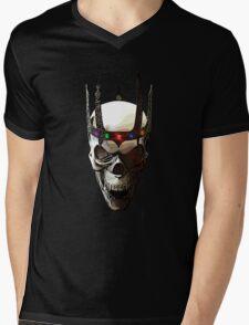 Angry Skeleton King Mens V-Neck T-Shirt
