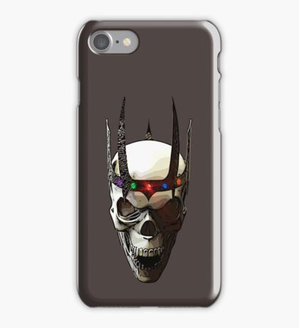 Angry Skeleton King iPhone Case/Skin