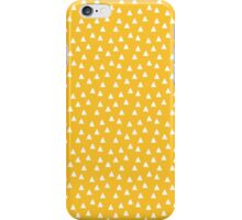 Yellow White Triangles iPhone Case/Skin
