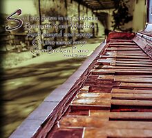Broken Piano Grunge by Livonne