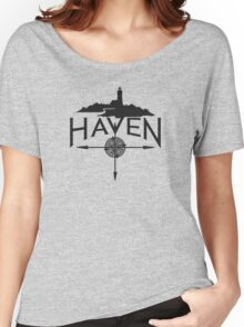 Haven Black Logo Women's Relaxed Fit T-Shirt