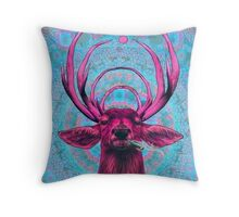 High Deer Throw Pillow
