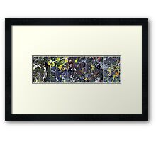 Spatial Insanity Remixed Framed Print