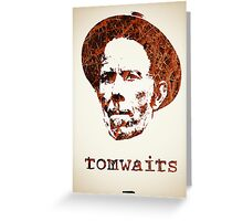 Icons - Tom Waits Greeting Card