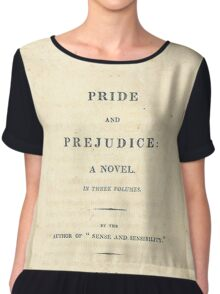 PRIDE and PREJUDICE Novel Cover Chiffon Top