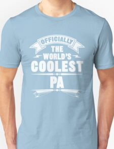 Officially The World's Coolest Pa, Funny Father's Day T-Shirt Unisex T-Shirt
