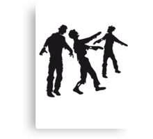 Many zombies Horde Canvas Print