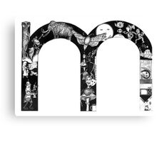 The letter 'm' Canvas Print