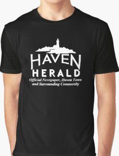 Haven Herald News White Logo Graphic T-Shirt