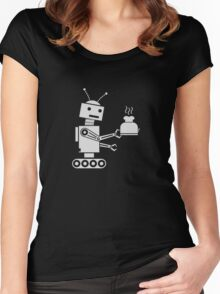 Toaster Robot (light grey) Women's Fitted Scoop T-Shirt