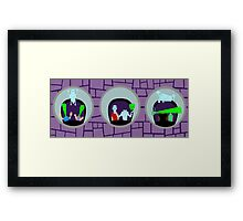 Haunted Mansion Mirrors Framed Print