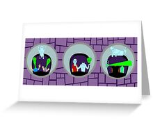 Haunted Mansion Mirrors Greeting Card