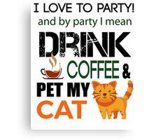 Love cats Tshirt  Canvas Print
