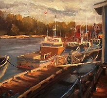 Rustico Harbor Sketch by Monica Vanzant